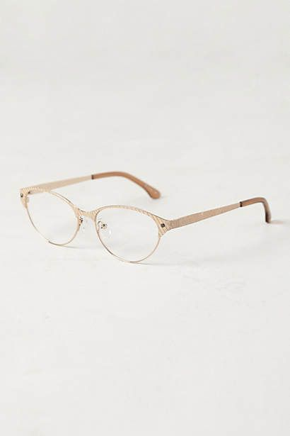 Cynthia Rowley Etched Cat-Eye Reading Glasses