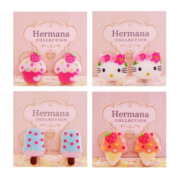 4 Pairs Lot of Cute Clip-On Earrings for Girls Kids Women Children Party Gift #A #ClipOnEarrings
