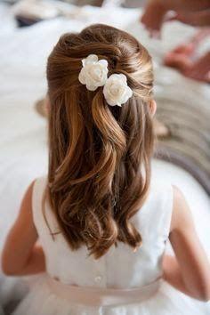 Peinados para Mujer Hombre y Niños: Hermosos peinados para niñas que hacen su primera Comunion