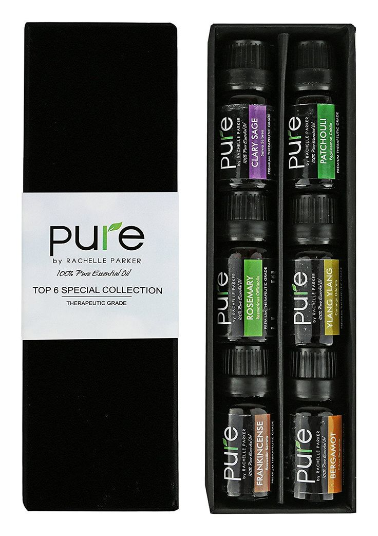 Top Aromatherapy Premium Essential Oils! 6 Pc Gift-set Specialty Collection of Clary Sage, Patchouli, Rosemary, Ylang, Ylang, Bergamot and Frankincense by Pure (10ML) Great Holiday Gift Idea! *** Startling review available here  : NOW essential oils
