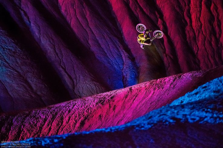 Graham Agassiz in Big Water, Utah while  filming Sweetgrass Productions movie 'DarkLight' due out October 2015.  http://www.pinkbike.com/news/must-watch-darklight-trailer-2015.html