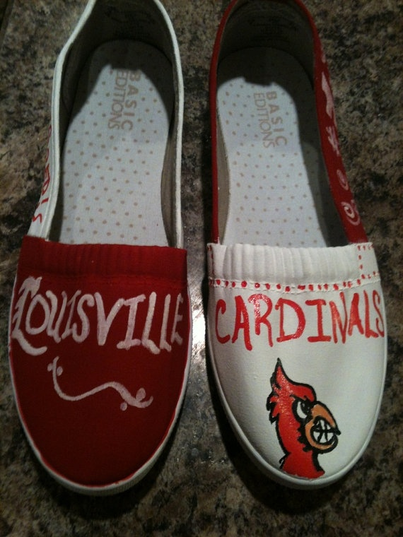 University of Louisville Cardinals hand painted slip by KyGirlShop, $20.00