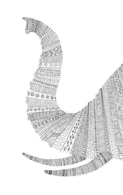 """Elephant"" by Speakerine / Florent Bodart -- http://society6.com/product/Animals-QZ_Print?tag=animals"