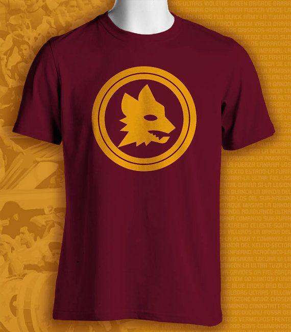 Roma Italy Italia Calcio Football Soccer T Shirt Maglietta UEFA Europe Lupi on Etsy, $17.99
