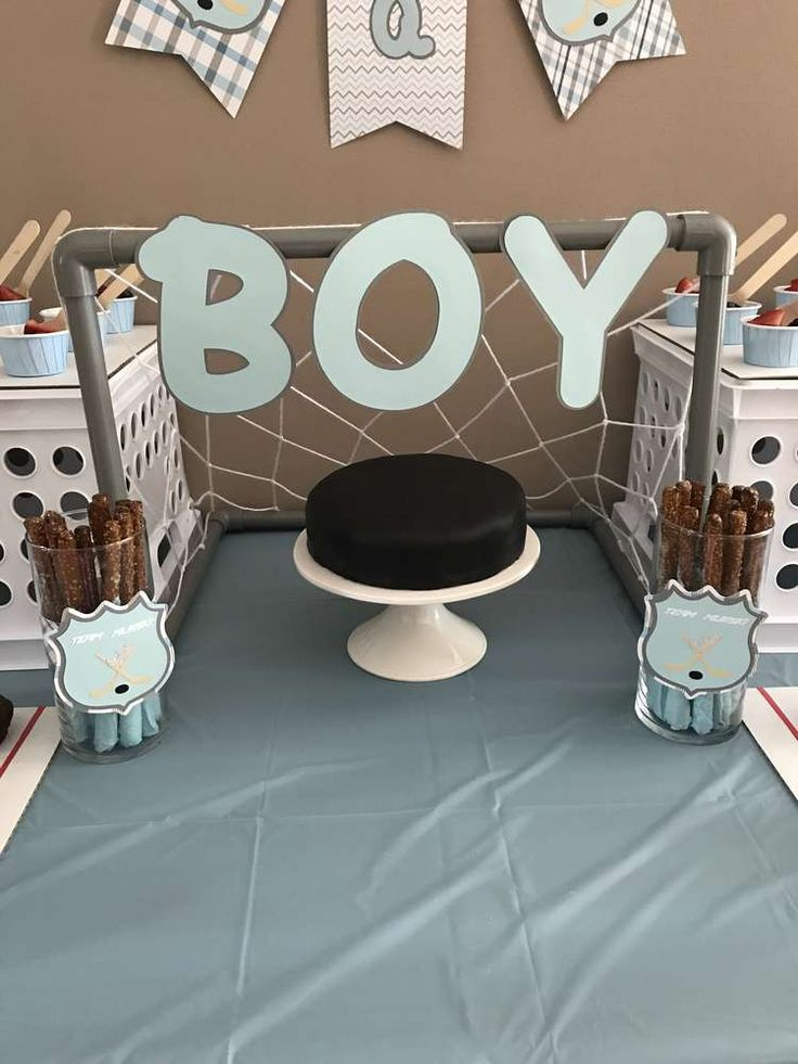 Hockey Baby Shower Party Ideas | Photo 2 of 7