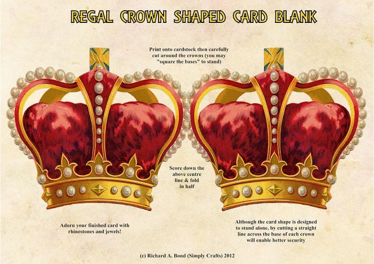 SIMPLY CRAFTS: *NEW* CROWN SHAPED CARD BLANK