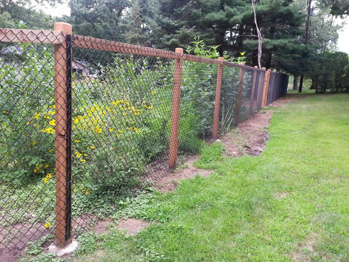 Fence Is Complete Garden Is Popping With Color Black