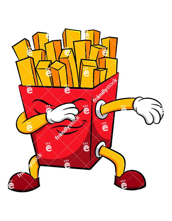 Dabbing Dab Dancing Pop Fries French Friendlystock Clipart