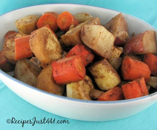 Root Vegetables with Maple Cinnamon.