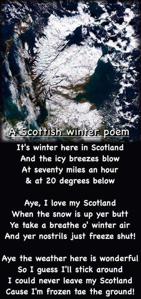A cute poem about the Scottish winter. ;)