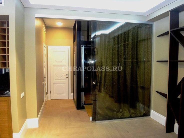 Дизайн интерьера таунхауса ЖК Бристоль. Стеклянные раздвижные перегородки Dorma Agile 150. Sliding glass partitions.