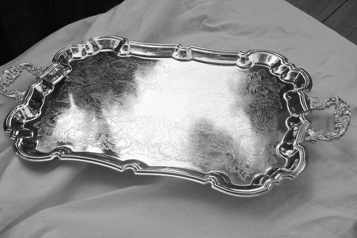 Vintage International Silver Plate Butler/Hostess/Serving Footed Handled Platter #InternationalSilverCompany