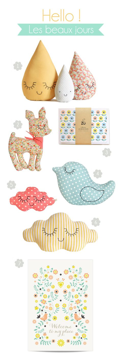 I just love the look of these happy little creatures/pillows so much!  I want one of each...no two of each :)