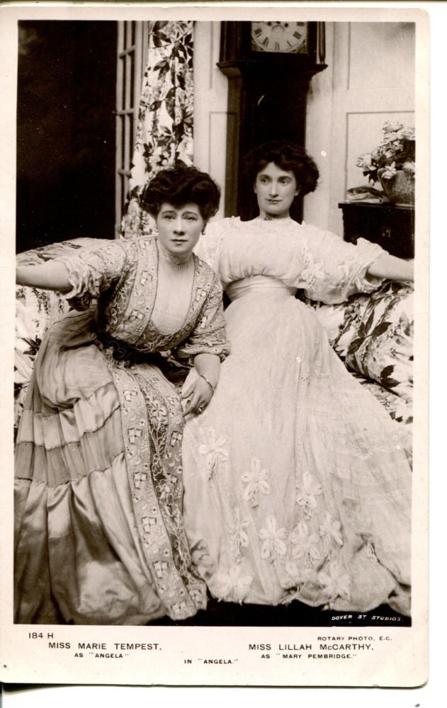 Liliah MaCarthy | Marie Tempest | RPPC-MARIE TEMPEST-LILLAN McCARTHY-Angela-Opera-Comedy-London-1908-Real Photo