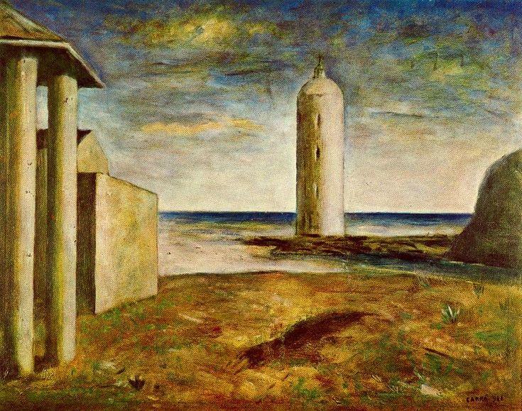 carlo carra paintings | El Faro - Carlo Carra - WikiPaintings.org