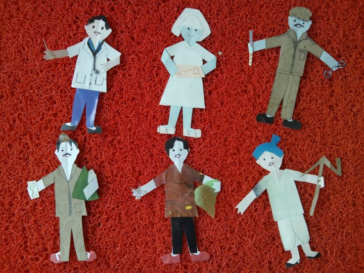 Community Helpers: A Paper doll dress up game