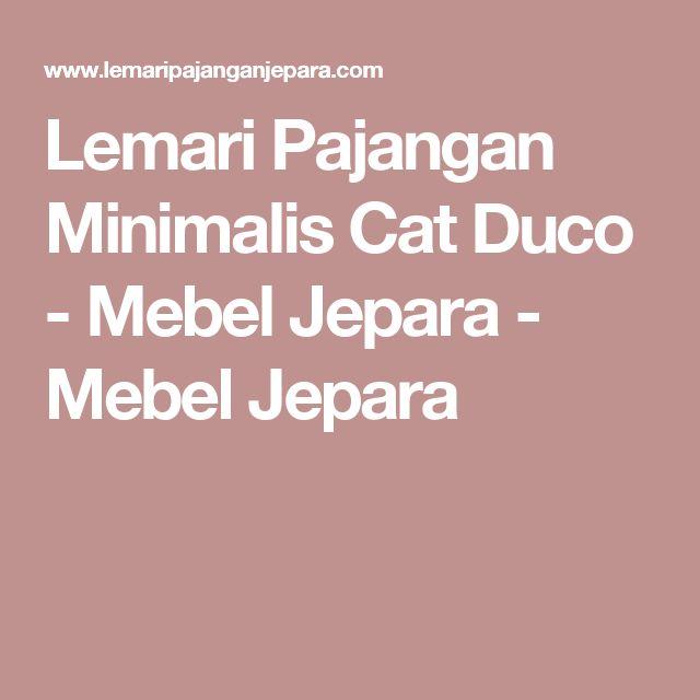 Lemari Pajangan Minimalis Cat Duco - Mebel Jepara - Mebel Jepara