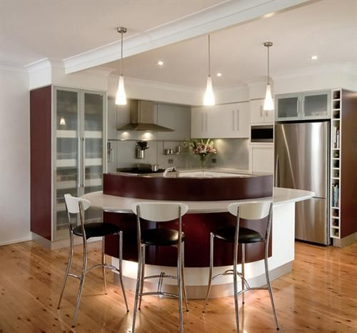 Contempory ,Curve , Kitchen , Design , Brisbane , caesarstone , Ilve appliances