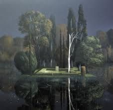 arnold bocklin - This looks like where they buried Dumbledore in the HP movie