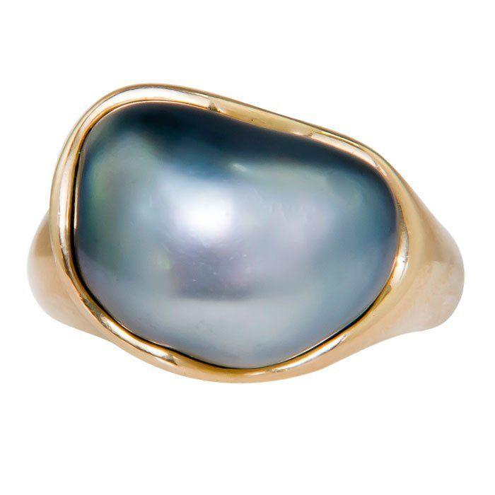 Elsa Peretti for Tiffany & Co. Tahitian Pearl Ring 2