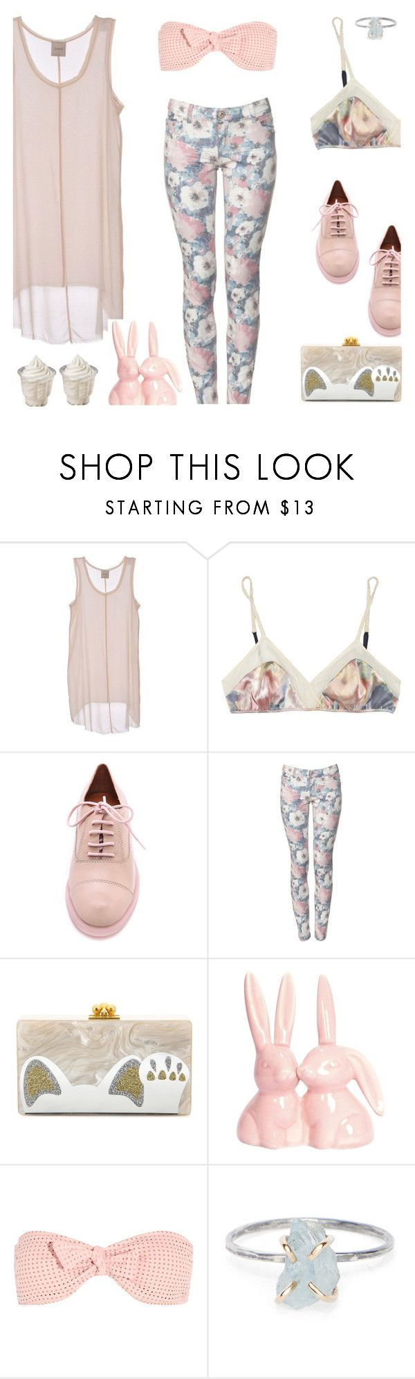 """""""soft"""" by alongcametwiggy ❤ liked on Polyvore featuring Nude, 3.1 Phillip Lim, Marc by Marc Jacobs, Parisian, Edie Parker, Melissa Odabash and Rebecca Taylor"""