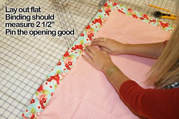 how to prepare quilt for binding