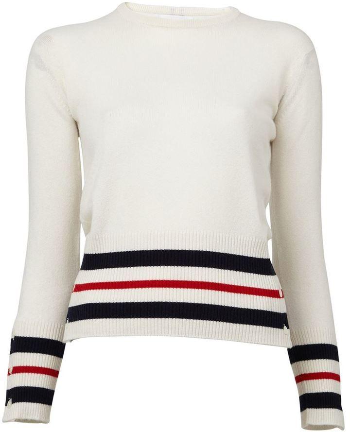 Thom Browne striped detail sweater