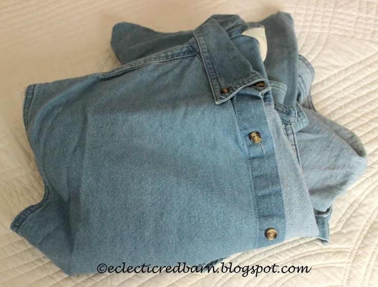 Do you have a pair of old jeans or an old jean shirt? Don't throw them out. Turnthem into Valentine decor. Step 1: Grab a pair of old jeans or an old shirt Cut…