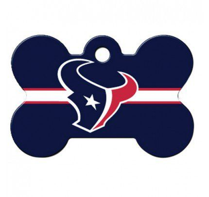 PetScribe I.D. Tag - NFL Houstan Texans - Large Bone
