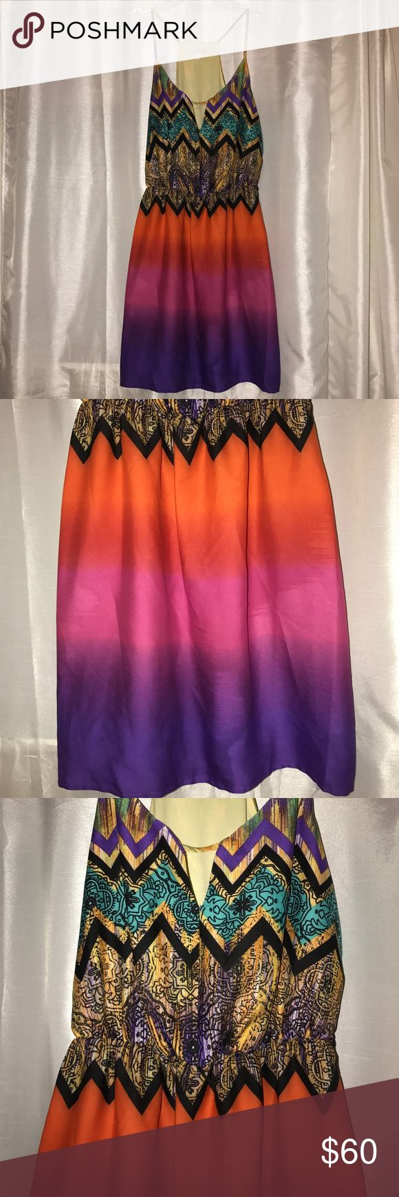 Gianni Bini Dress This dress is stunning. Great quality! Came with a belt but I no longer have it. Racerback style. Waist has elastic for some stretch! Gianni Bini Dresses