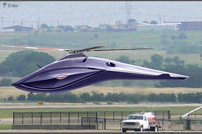 futuristic helicopter