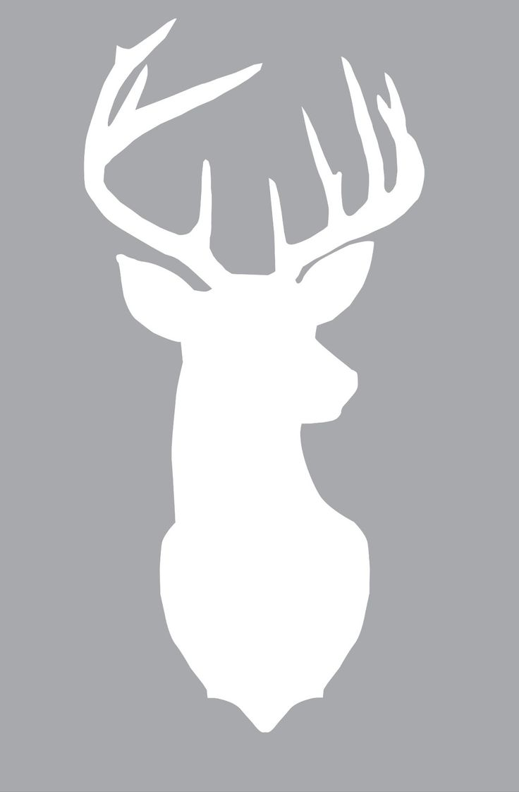 Free large deer silhouette print. Layer different colors of scrapbook paper - so into deer right now