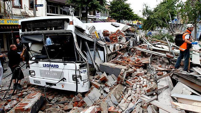 Many died in Colombo Street as buildings collapsed into the street
