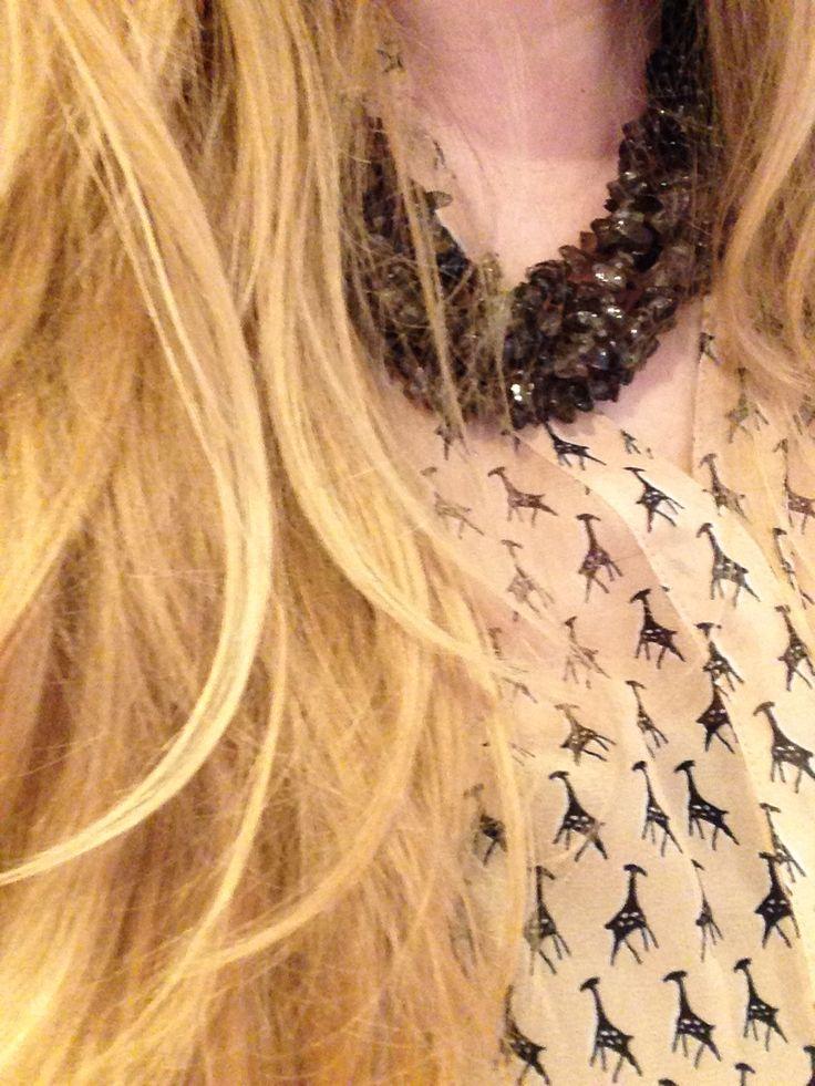 #giraffe #rocks #statementnecklace giraffe rocks statement necklace