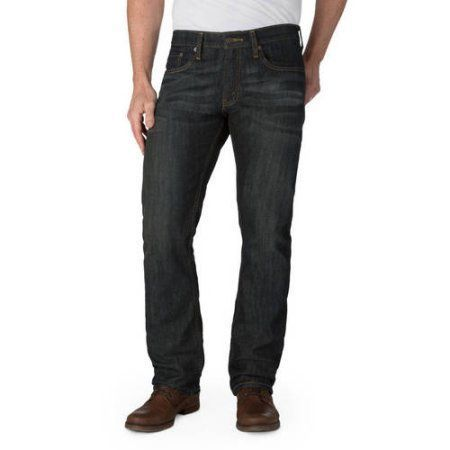 Signature by Levi Strauss & Co. Men's Straight Fit Jeans, Size: 33 x 32, Blue