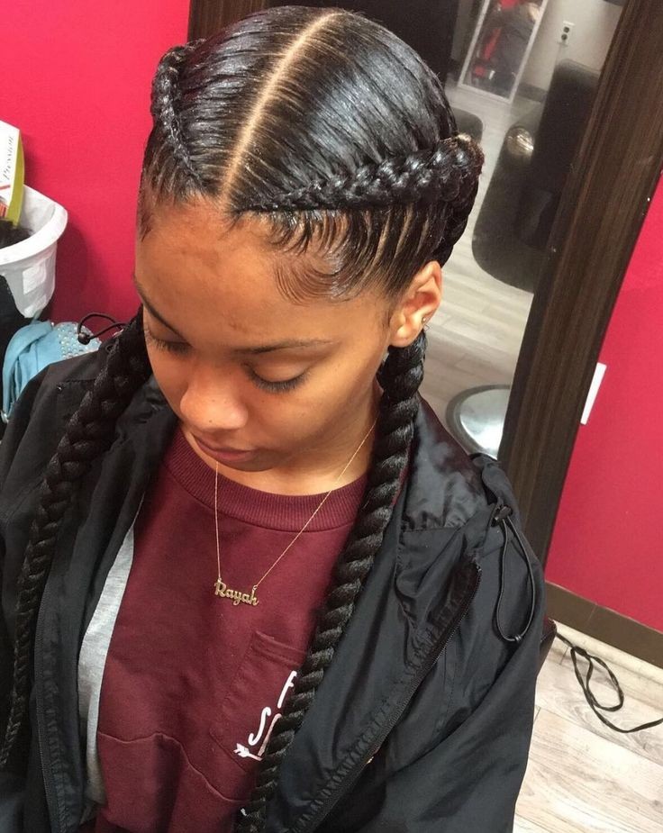 Sleek braids by @amber_belovely - https://blackhairinformation.com/hairstyle-gallery/sleek-braids-amber_belovely/