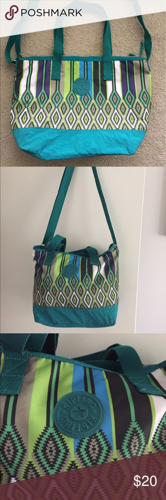 Kipling green tote bag Excellent condition, used very few times. Kipling Bags Totes