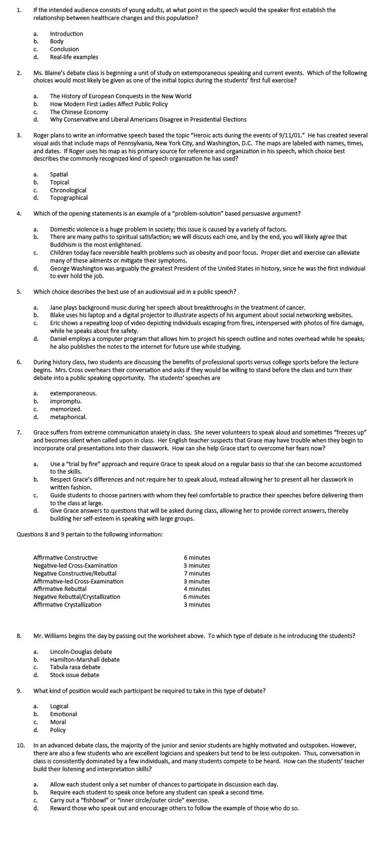 speech quiz answers Free parts of speech worksheets worksheets on nouns, verbs, pronouns yes, i have just completed and posted the oft requested parts of speech test answer key.