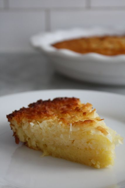 Impossible Coconut Pie - Blue-Eyed Bakers - Blue Eyed Bakers