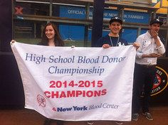 Poughkeepsie Day School at Yankee Stadium. NY Yankees Blood Donor champs