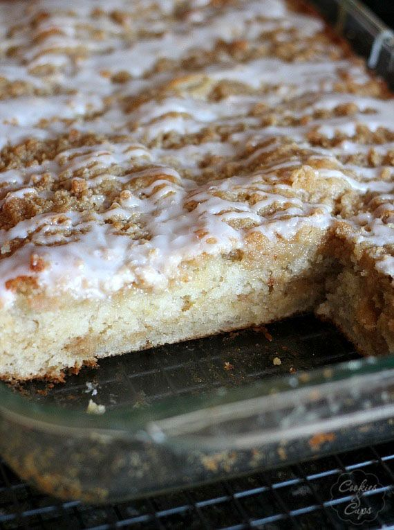 Banana Bread Crumb Cake - SOOOO GOOD!!!! I now would rather make this than banana bread, with old bananas.