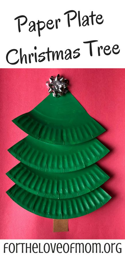 Paper Plate Christmas Tree | #christmascrafts | #kidscrafts | #holidaycrafts | www.fortheloveofmom.org