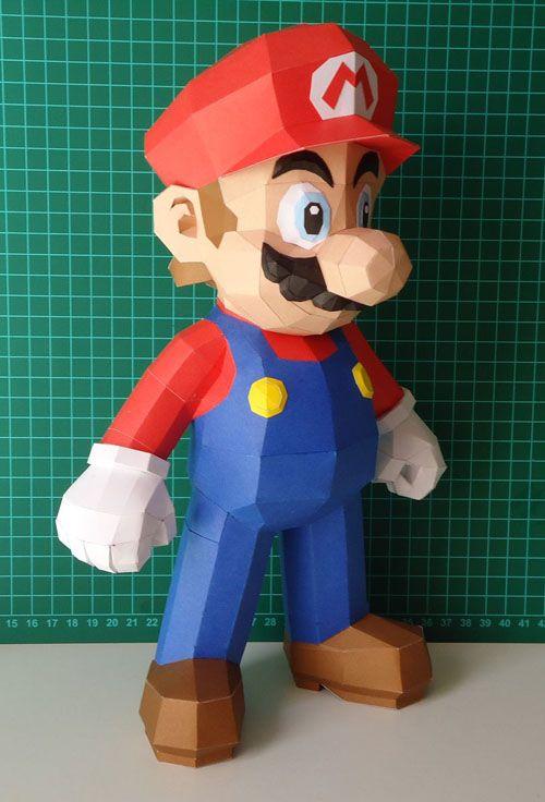 Nintendo Papercraft: Super Mario #Papercraft #Mario
