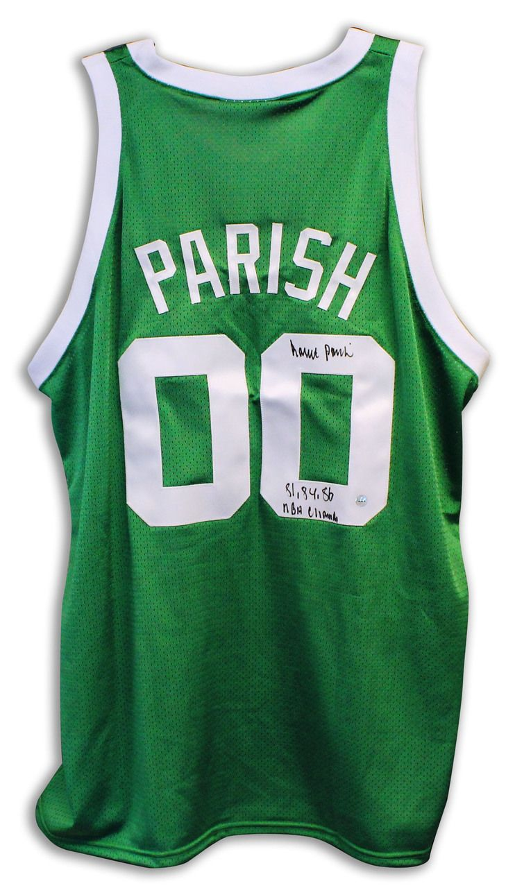 60be4e718aa ... discount code for aaa sports memorabilia llc robert parish boston  celtics autographed green throwback jersey inscribed