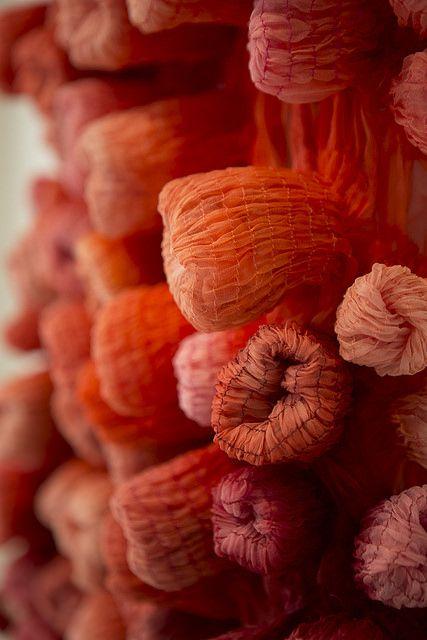 Silk organza sculpture detail por Modern Fiber Lab - Sonya Yong James en Flickr