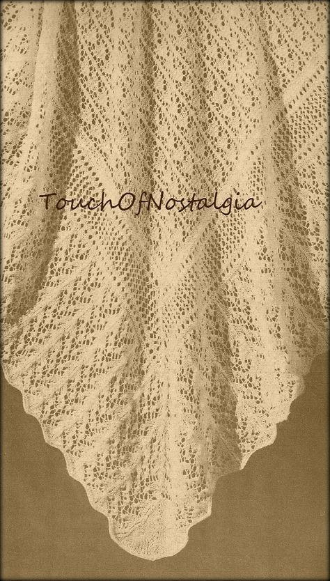 2 LACY Baby SHAWL Knitting Patterns  Heirloom FAIRY Lace Baby