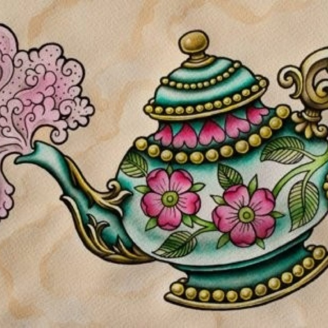 very close to what I want for my teapot tattoo. Must save!