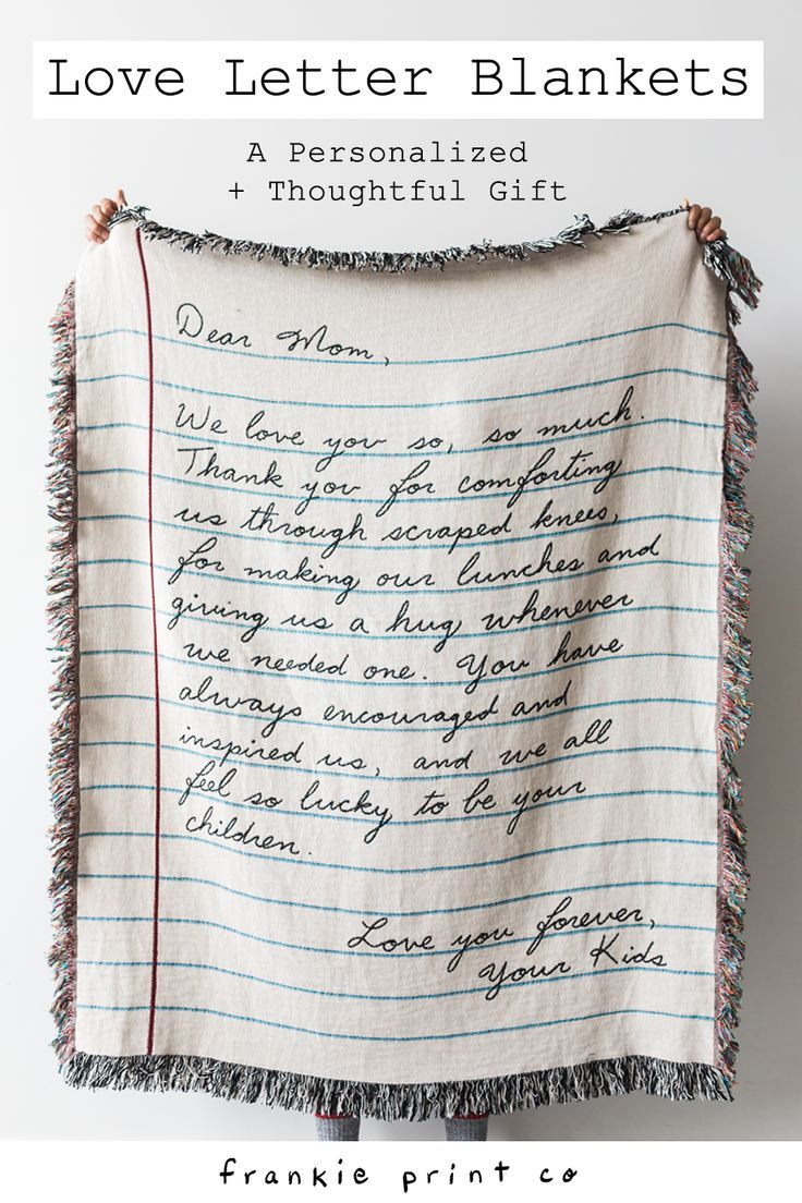 Love Letter Blanket Handwriting Boyfriend Gifts Creative Gifts For Boyfriend Christmas Gifts For Boyfriend