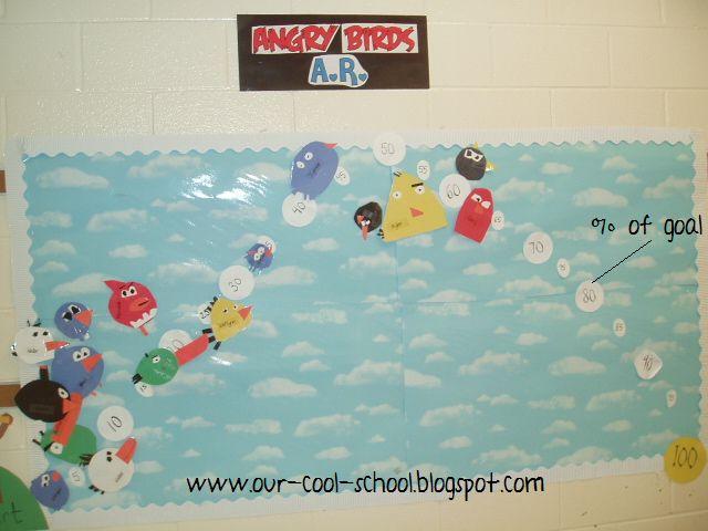 BRILLIANT!: Ar Chart, Bird Bulletin Boards, Reading Goal, Goal Chart, Hallway Display, Birds Bulletin, Birds Ar, Angry Birds