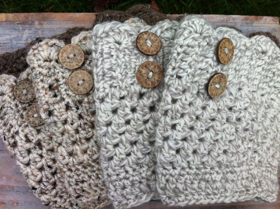 Scalloped Boot Cuffs by PeekaAndBean on Etsy, $18.00